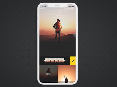 Fused Trim Video trim iphone x masking blending video photo icon app ios fused