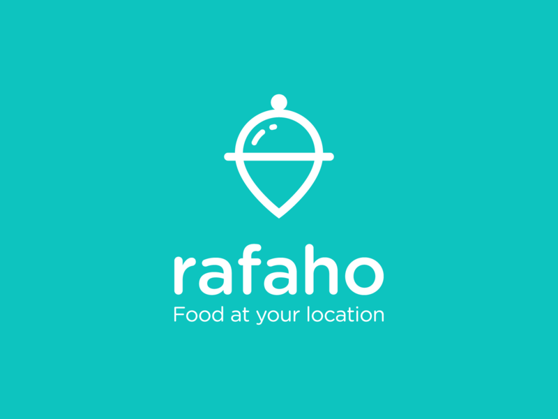 Rafaho food and drink cooking cook book chef dish pin location pin visual identity logodesign logo brand branding map local location food