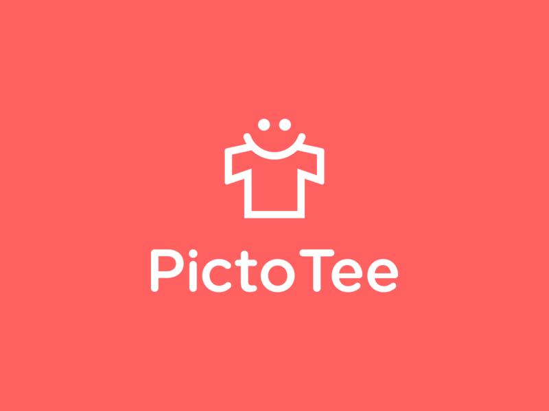 PictoTee smile happy logodesign photo shot picture mobile app branding design brand design t-shirt design t-shirts t-shirt design logo branding brand identity brand