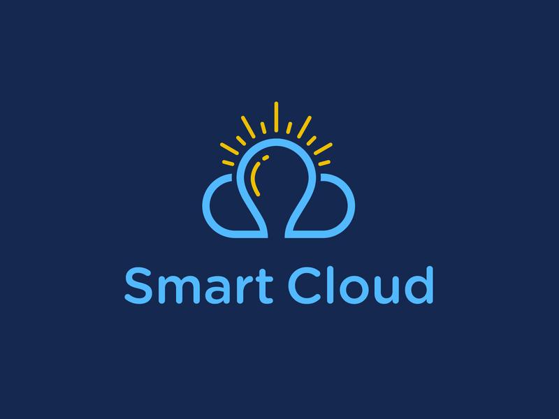 Smart Cloud uploading files security secured secure server servers data intelligence intelligent smart cloud logodesign branding design brand design design brand identity logo branding brand