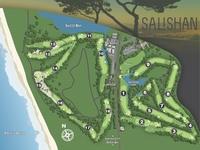 Salishan Resort Golf Course Map