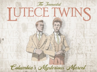 The Immortal Lutece Twins - Bioshock Infinite booker rapture immortal twins poster grunge retro procreate marvel columbia infinite lutece video games bioshock face texture illustration