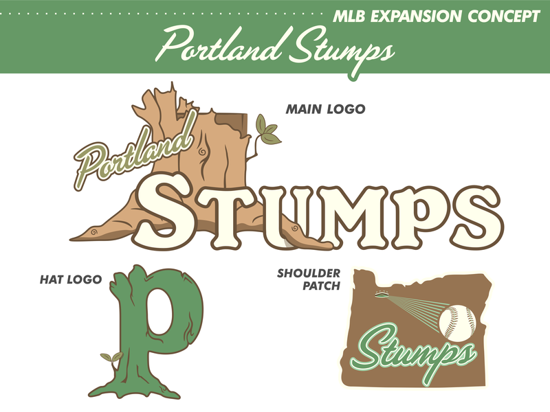 Portland Stumps Logo Set