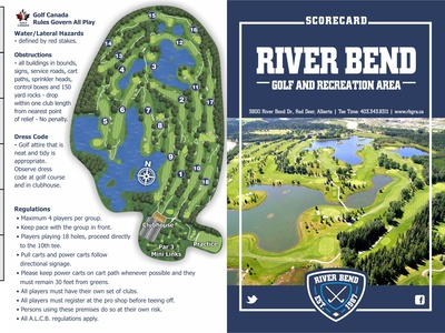 River Bend Golf and Rec: Scorecard and Map