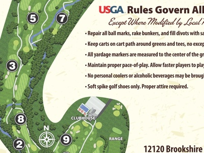 Brookshire Golf Club Scorecard -- Map and Rules
