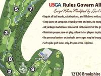 Brookshire Golf Club Scorecard -- Map and Rules