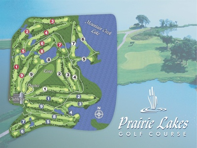 Prairie Lakes Golf Course Map
