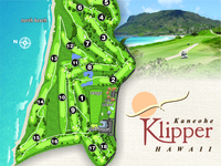 Kaneohe Klipper Golf Course Map