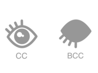 Email Cc/Bcc Icons