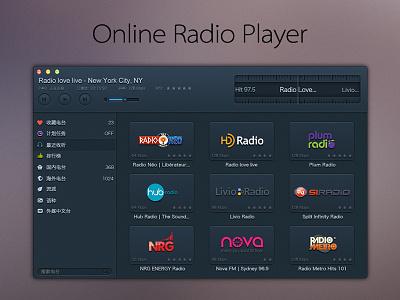 Online Radio Player mac ui ux radio music player os x app interface apple