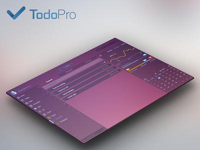 TodoPro app flat ui ux mac gtd list os todo infographics