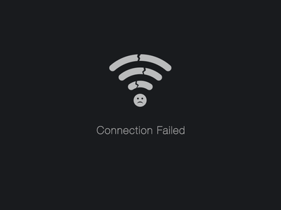Connection Failed flat mobile app wifi connection offline ui warning icon fail