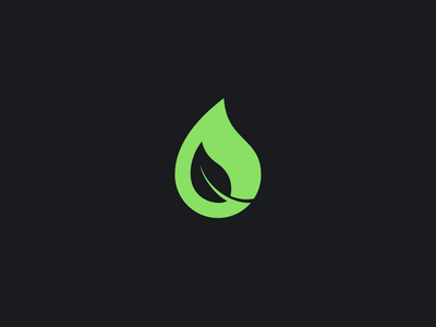 Logo leaf water droplet icon logo