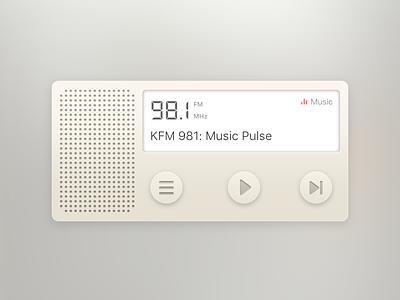 DailyUI/001 Radio player music sketch ios app ui fm radio