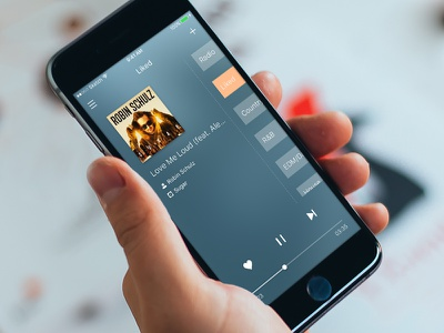 DailyUI/002 Player player music sketch ios app ui fm radio