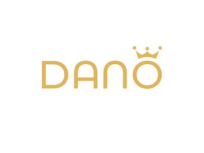 Dano wedding salon logo salon wedding brand design brand identity branding design gold crown logotype logo design branding logo