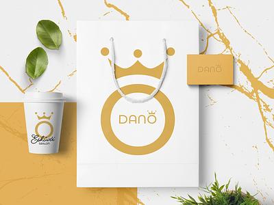 Dano brand identity cup brand identity brand branding logo design logotype logo identity branding identity design identity bag gold wedding