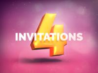 4x invitations