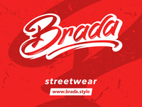 brada streetwear logo typo