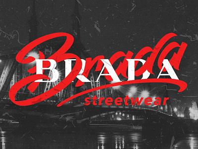 BRADABRADA typo logo lettering shirt typo clothing street wear streetwear brand logo