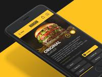 burger app concept
