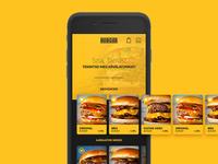 burger app landing