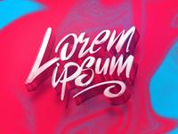lorem ipsum lettering