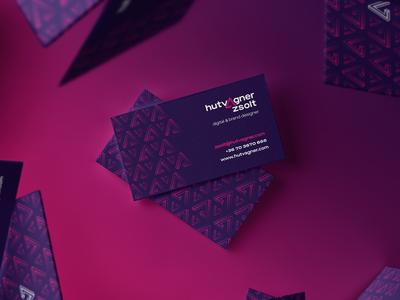 self branding business card