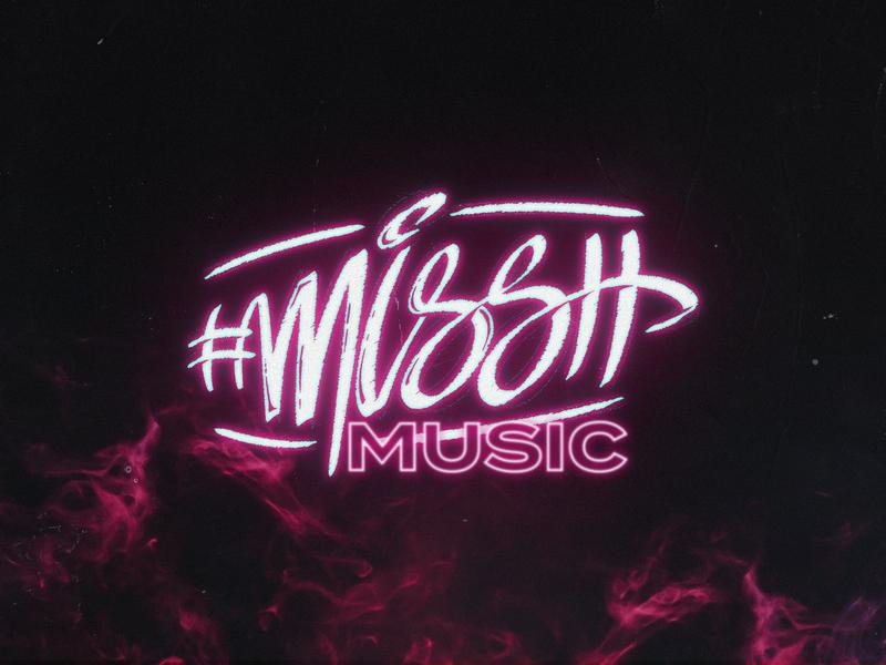 missh music logo branding pink lettering art handwrite handletter lettering concept rebranding rebrand branding logo song band music hip hop
