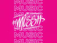 missh music logo type branding