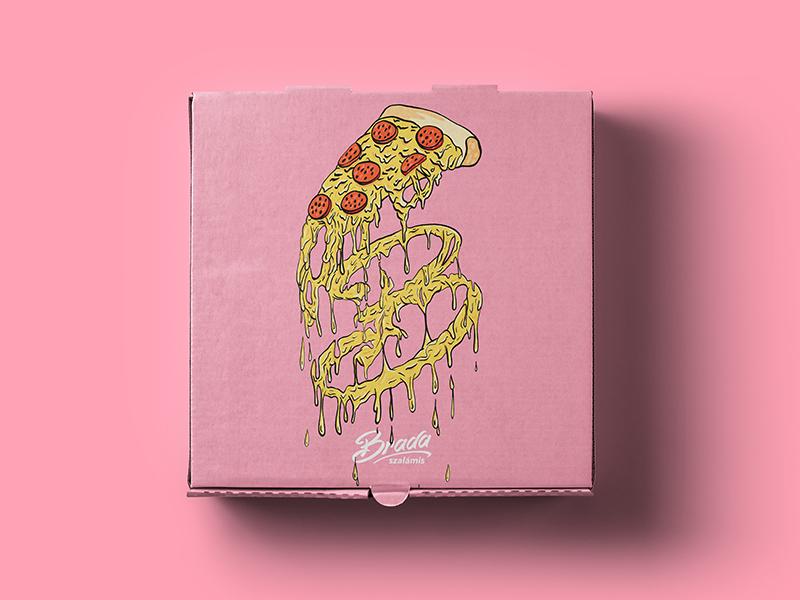 brada pizza box brada streetwwar brand brand shirt design clothing design clothing brand branding box cheese streetwear pizza box pizza
