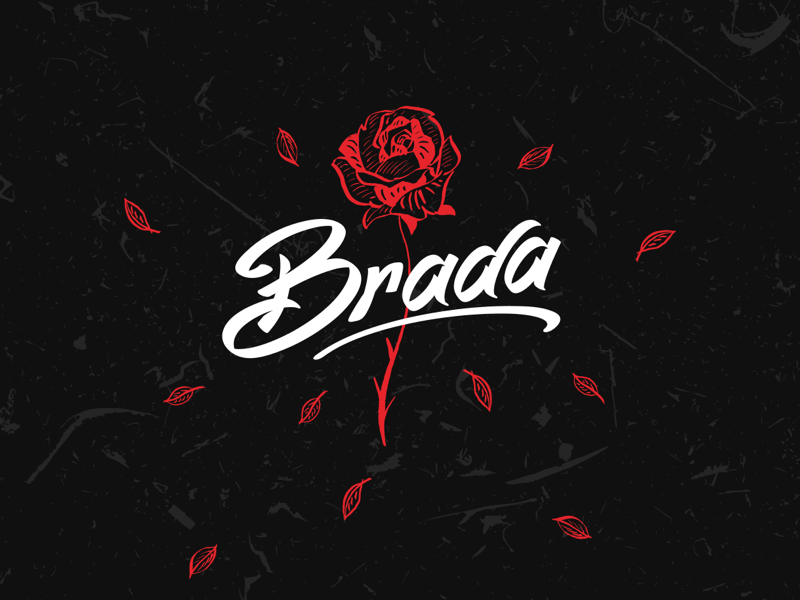 brada streetwear clothing collection 2019 procreate illustration flower dark red streetwear brada shirt design design rose clothing