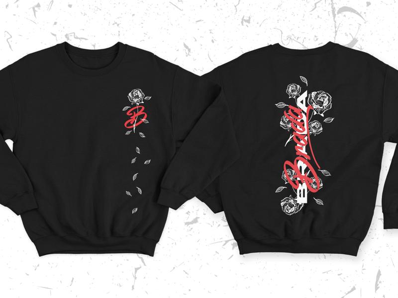 brada clothing design dark rose black sweater clothing design urban streetwear jumper