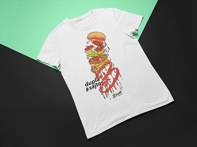 double cheese burger clothing design brada streetwear wear urbanwear shirt design clothing design streetwear brand clothing