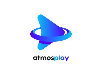 atmosplay logo & branding atmosphere symbol play blue app logo branding logo