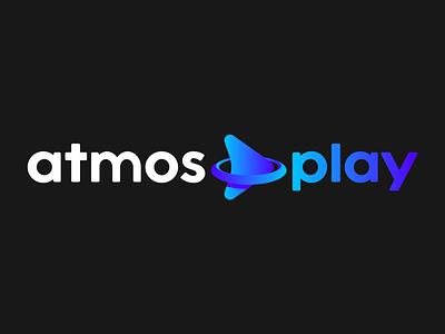 atmosplay branding app logo gradient blue symbol brand logo design brand identity branding logo