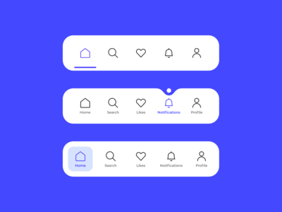 Tab bar menu navigation