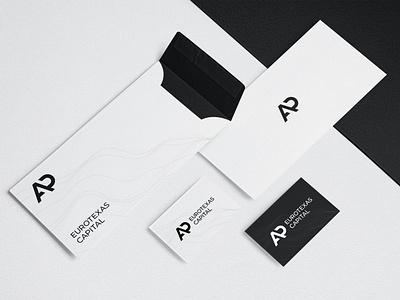 AP Eurotexas Capital branding lines waves typogaphy envelope paper businesscard card leaflet monogram logotype logodesign logo brand design brand identity branding brand