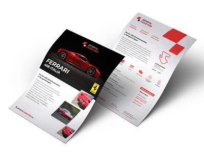 élményvezetés printed voucher car racecar vehicle race brand identity paper voucher offline print design branding design branding print