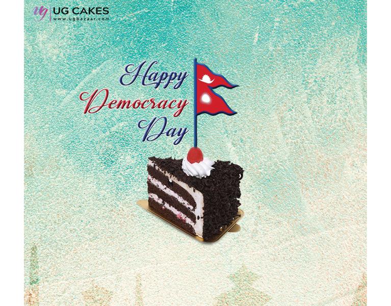Democracy Day Social Media Post for UG Cakes nepal democracyday socialmediamarketing socialmediapost socialmedia branding graphicdesign photography vector illustrator design illustration
