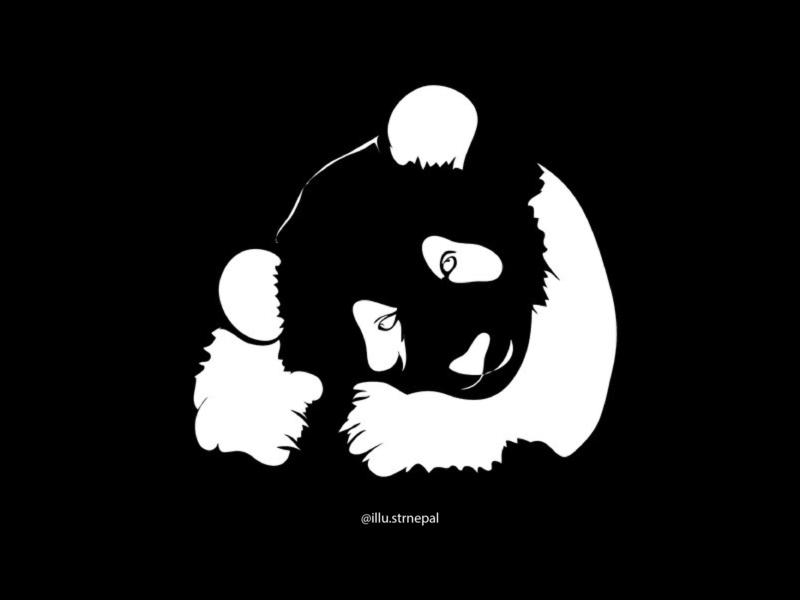 BLACK&WHITE blackandwhite nepali typography photoshop nepal graphics graphicdesign art photography vector illustrator design illustration
