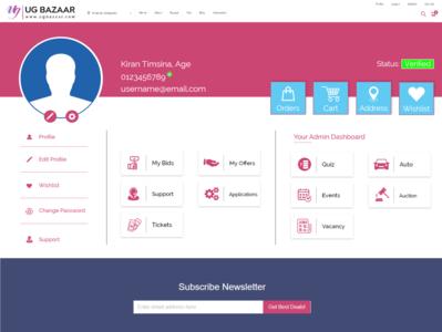 Profile Web Design For UGBazaar illustration vector graphics branding webdesigner nepalidesigner webdesign nepal design graphicdesign