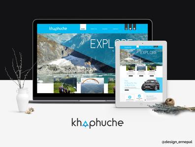 Website Design for Khapuche website concept website design design logo branding nepal graphics graphicdesign