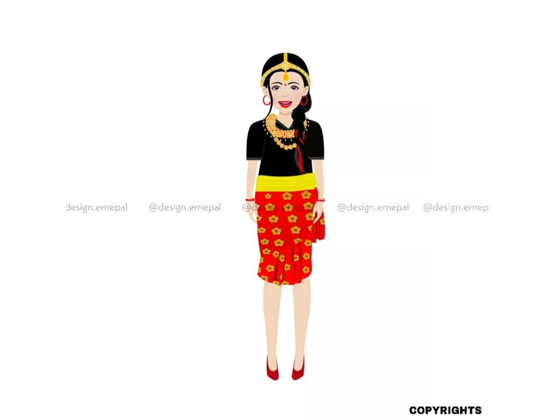 Nepali Girl Model Illustration For International Client vectorartwork nepaliculture vector illustration vectorart nepaliwoman nepaligirl culture nepal graphics photography graphicdesign art vector illustrator design illustration