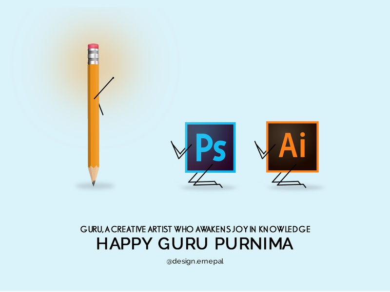 Happy Guru Purnima guru gurupurnima nepal graphics graphicdesign vector illustrator design illustration