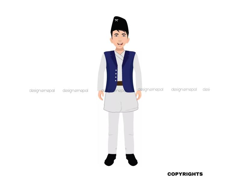 Nepali Guy Model Illustration For International Client nepali branding art nepal graphics graphicdesign vector illustrator design illustration