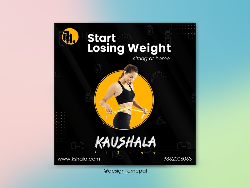 Ad Post for Kaushala nepali branding typography graphics graphicdesign art vector illustrator design illustration
