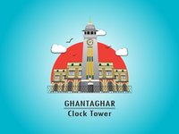 Clocktower Vector Illustration