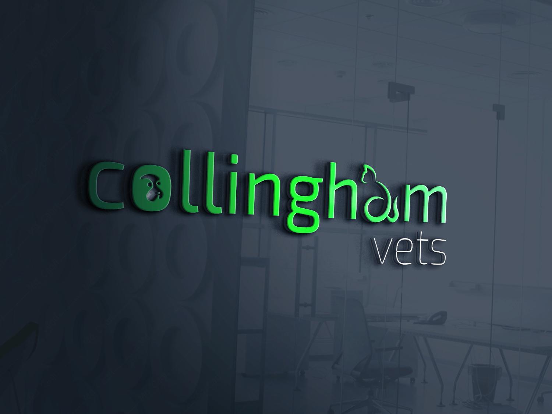 Preliminary Logo Design - Collingham Vets veterinarian pet business designer collingham veterinary vet pet animals logos branding logodesigner logodesign graphic flat logo graphicdesigner graphicdesign design