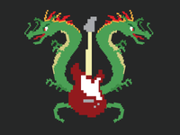 Double Dragon Rock Show Illustration